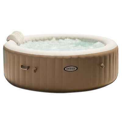 Intex PureSpa 6 Person Inflatable Jet Spa Hot Tub w/ Inflatable Headrest Pillow
