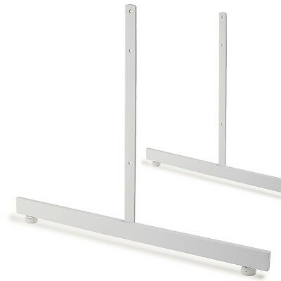 NEW 1 PAIR OF T-LEGS FOR GRIDWALL PANELS White