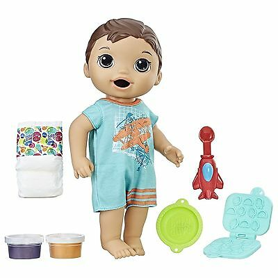 BABY ALIVE SUPER SNACKS SNACKIN' LUKE (BRUNETTE) Hasbro NIB Boy Doll for sale  Shipping to Canada