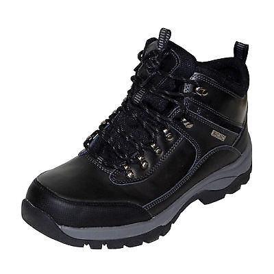 NEW - Khombu Men's Leather Hiker Boots BLACK Summit Hiking Trail - PICK SIZE