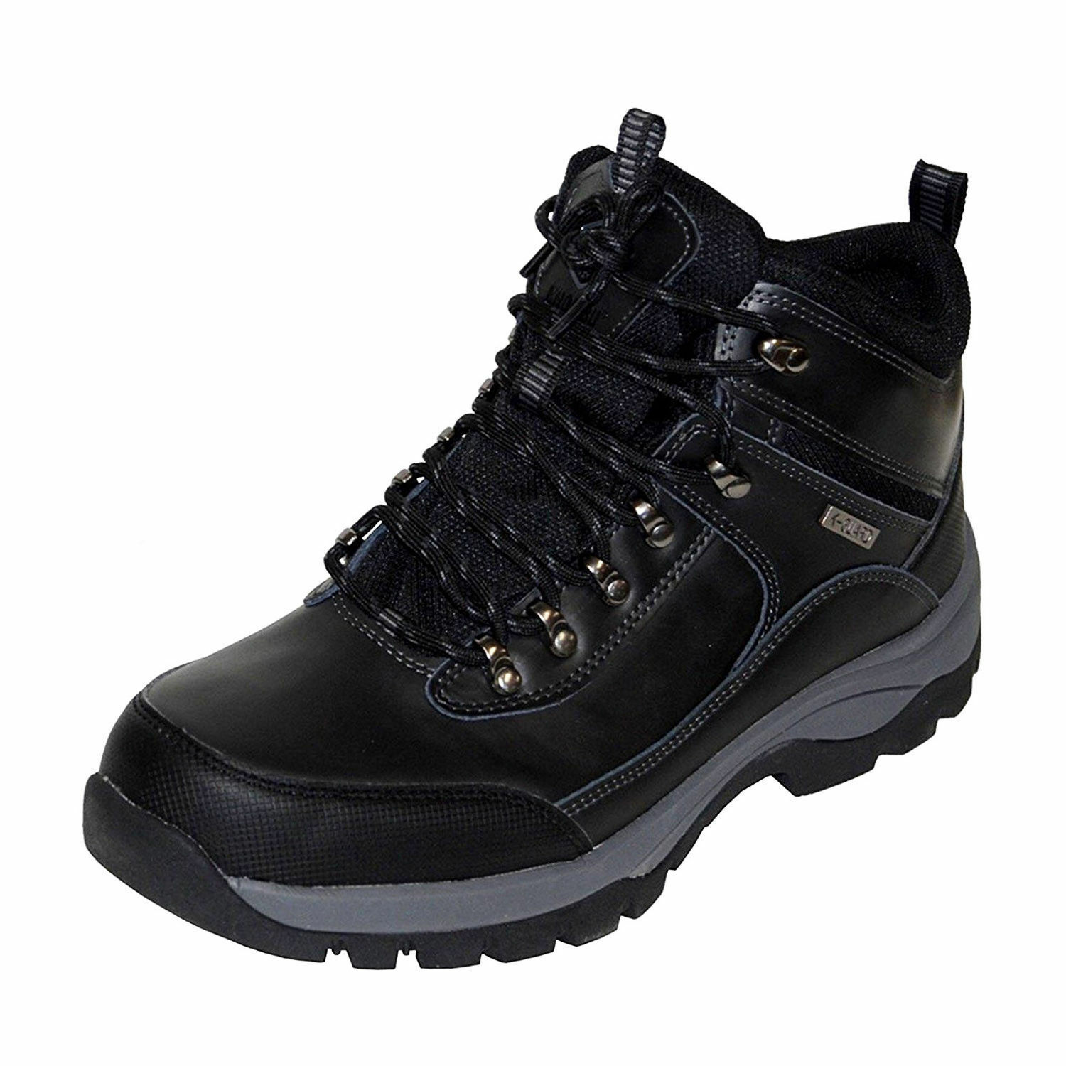 NEW - Khombu Men's Leather Hiker Boots BLACK Summit Hiking -