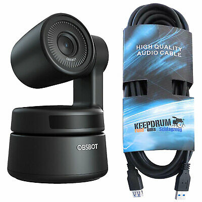 Obsbot Tiny Ptz Full HD USB Webcam+Keepdrum USB Extension