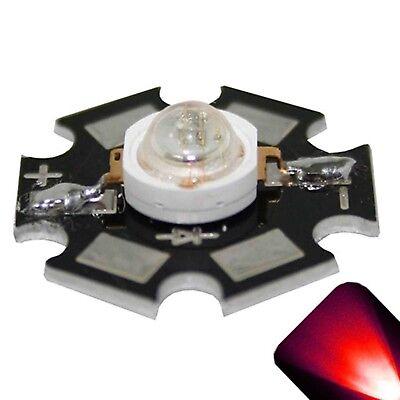 10 X Led 1 Watt Red Star Super Ultra Bright Wide Angle High Power Leds 1w W Diy