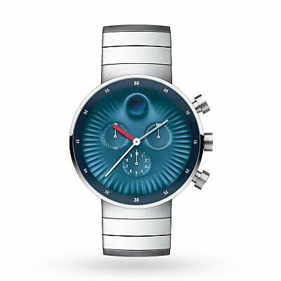 Movado 3680010 Men's Edge Concave Blue  Quartz Watch
