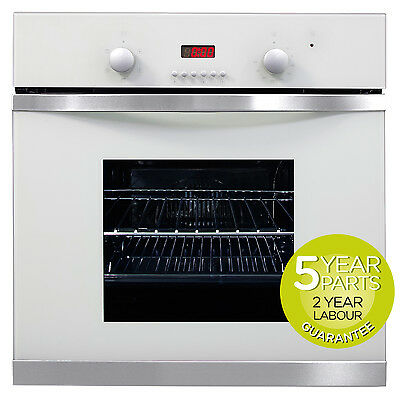 MyAppliances REF28703 60cm White Glass Built-in Single Electric True Fan Oven