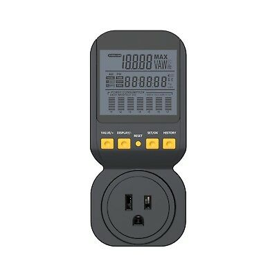 Spartan Power Energy Meter Electricity Usage Monitor 15A, 1800 Watt Maximum