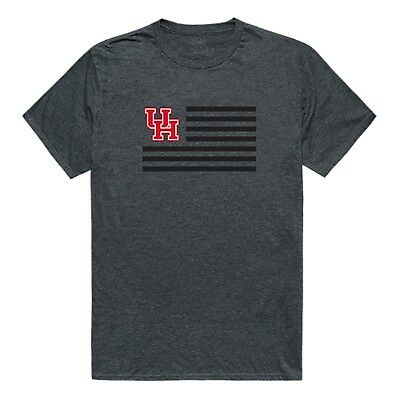 University of Houston Huskies NCAA Cotton College Logo USA Flag T-Shirt S-2XL - University Of Houston Logo