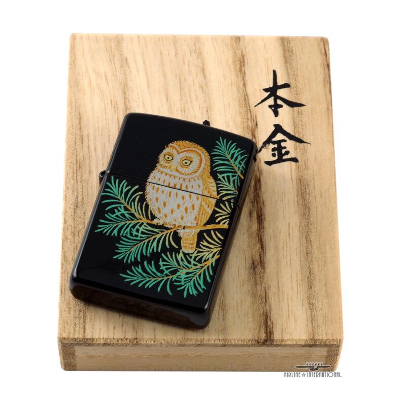 Zippo Limited Edition Maki-e Owl Lighter - Extremely Rare