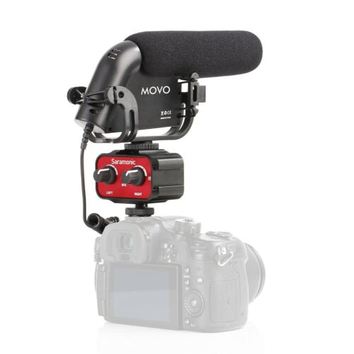 Movo DSLR Video Audio Kit w/ Shotgun Condensor Microphone &