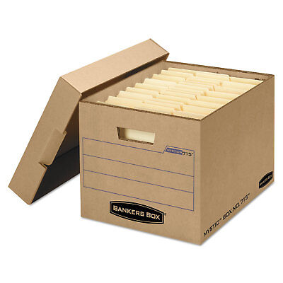 Bankers Box Filing Storage Box With Locking Lid Letterlegal Kraft 25carton