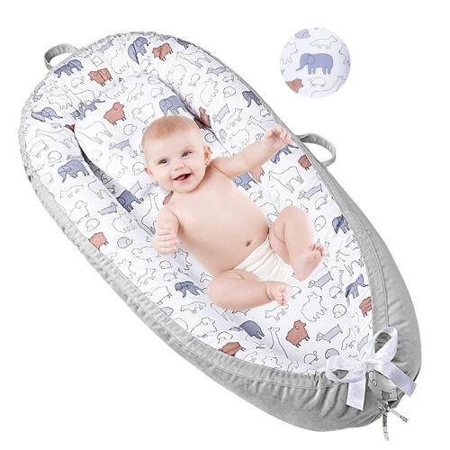 Portable Baby Nest Baby Lounger Bed Crib Newborn Sleeper Infant Bassinet Rainbow