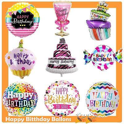 Geburtstag Luftballons Party Happy Birthday Torte Dekoration Folienballon - Birthday Party Dekorationen