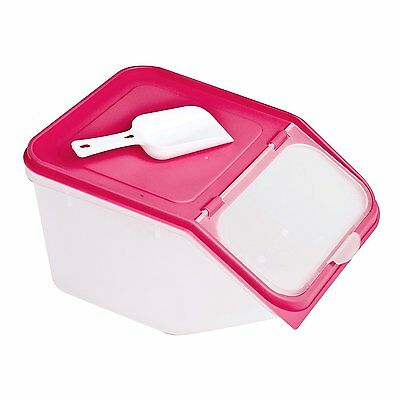 Dry Cat Dog Pet Animal Food Storage With Scoop Organiser Container Box Bird Seed
