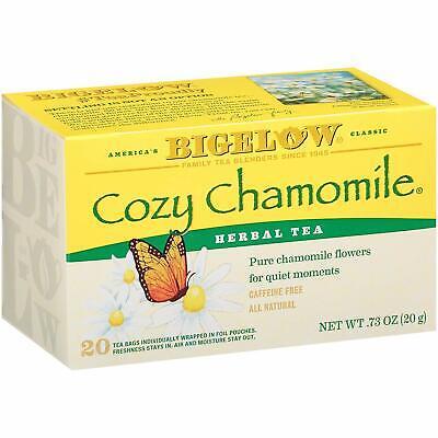Bigelow Cozy Chamomile Herbal Tea Bags 20-Count Boxes (Pack of 2), Chamomile Cozy Chamomile Herbal Tea