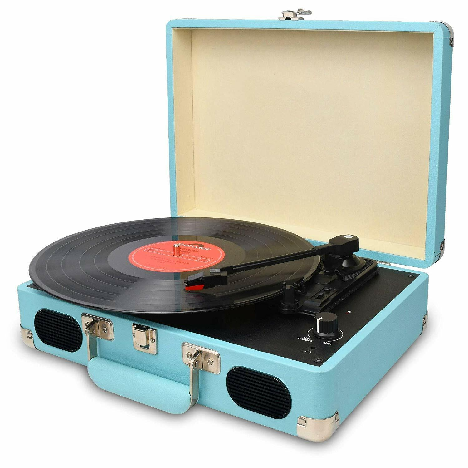 Details about Vintage Turntable,3 Speed Vinyl Record  Player,Suitcase/Briefcase Style
