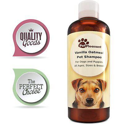 Pet Shampoo Dogs & Puppies Vanilla + Colloidal Oatmeal Tear Free ODOR ELIMINATOR