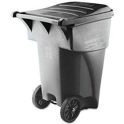 Rubbermaid Commercial Brute Rollout Heavy-Duty Waste Container Square