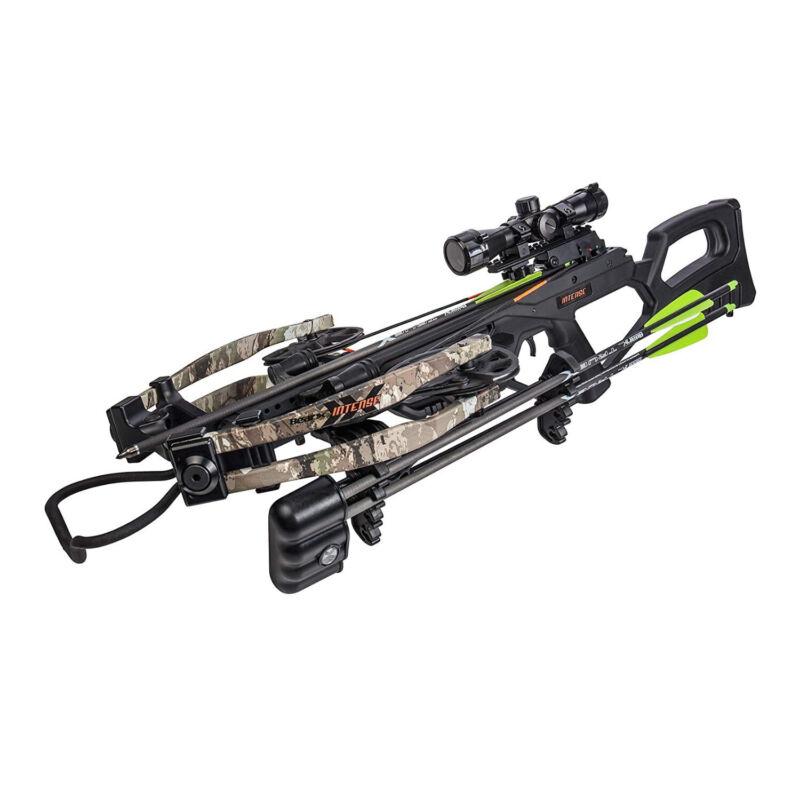 BearX Intense Ready to Shoot Crossbow Package with Scope, Quiver, Bolts, Cocking