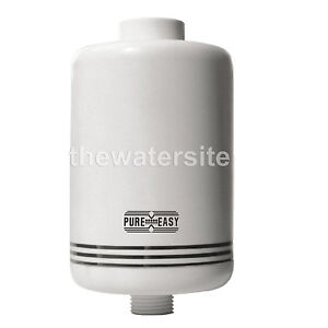 shower filter inline chlorine heavy metal and contaminant removal ebay. Black Bedroom Furniture Sets. Home Design Ideas