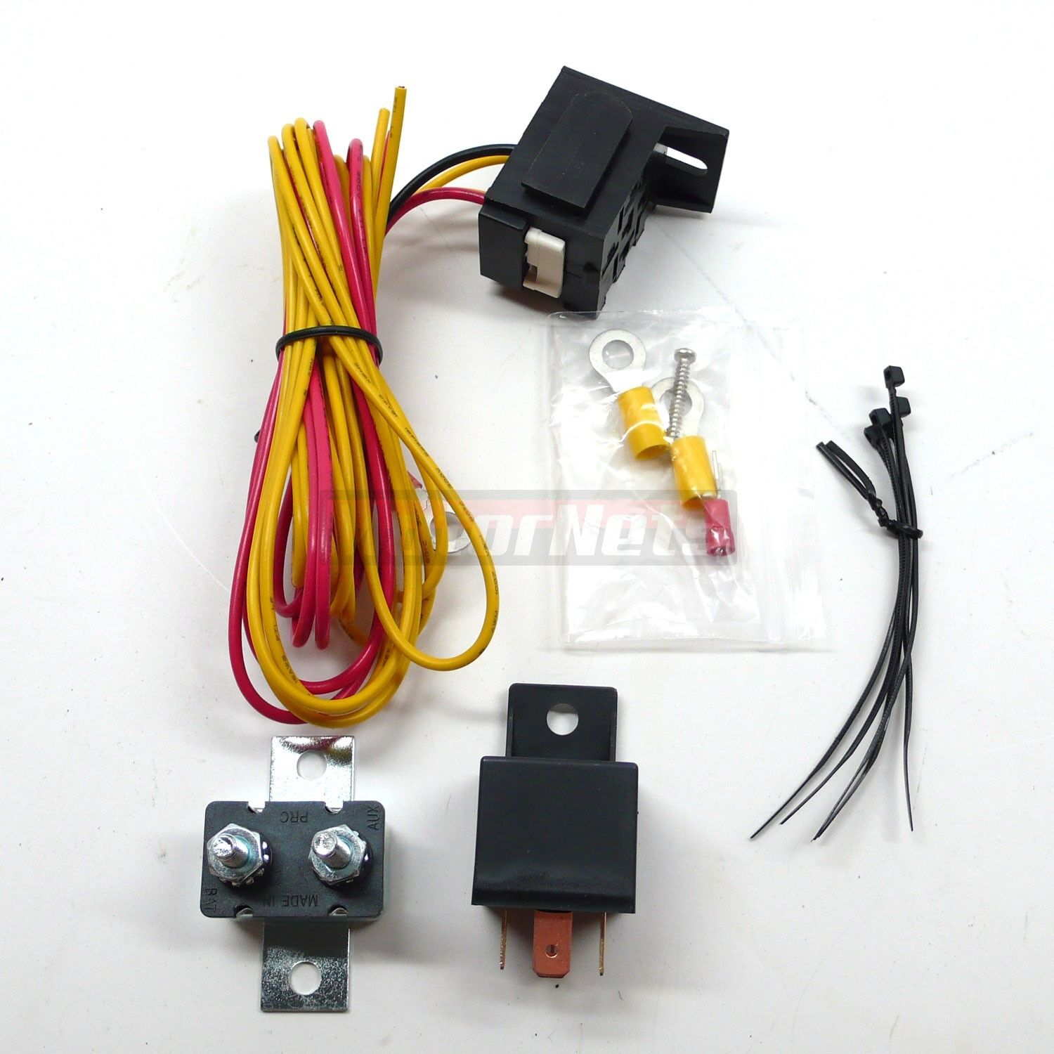 Electric Fuel Pump Relay Kit 30 Amps 12-Volts w/ Mounting Hardware on fuel pump sensor, fuel pump bulbs, map sensor wiring, fog lamp relay wiring, fuel relay switch location, starter relay wiring, fuel pump wiring kit, fuel pump hotwire, ignition coil wiring, fuel pump wiring harness, fuel tank wiring, electric fuel pump wiring, ignition switch wiring, fuel injector wiring,