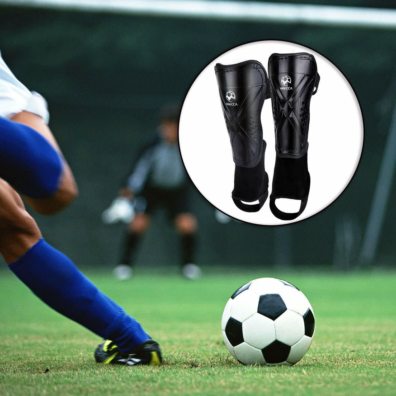Soccer Shin Guards, Protective Gear for 5-12 Years Old Child
