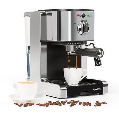 Kaffeemaschine Milchaufschäumer (Espressomaschine Kaffemaschine Kaffeeautomat Milchaufschäumer Cappuccino Silber)