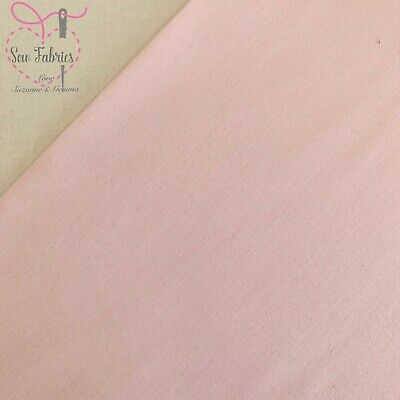 Pale Pink 100% Craft Cotton Solid Fabric Plain Material