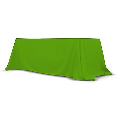 Trade Show Convertible Table Cover 6'-8' ft Stain Free Polyester Throw (Green)
