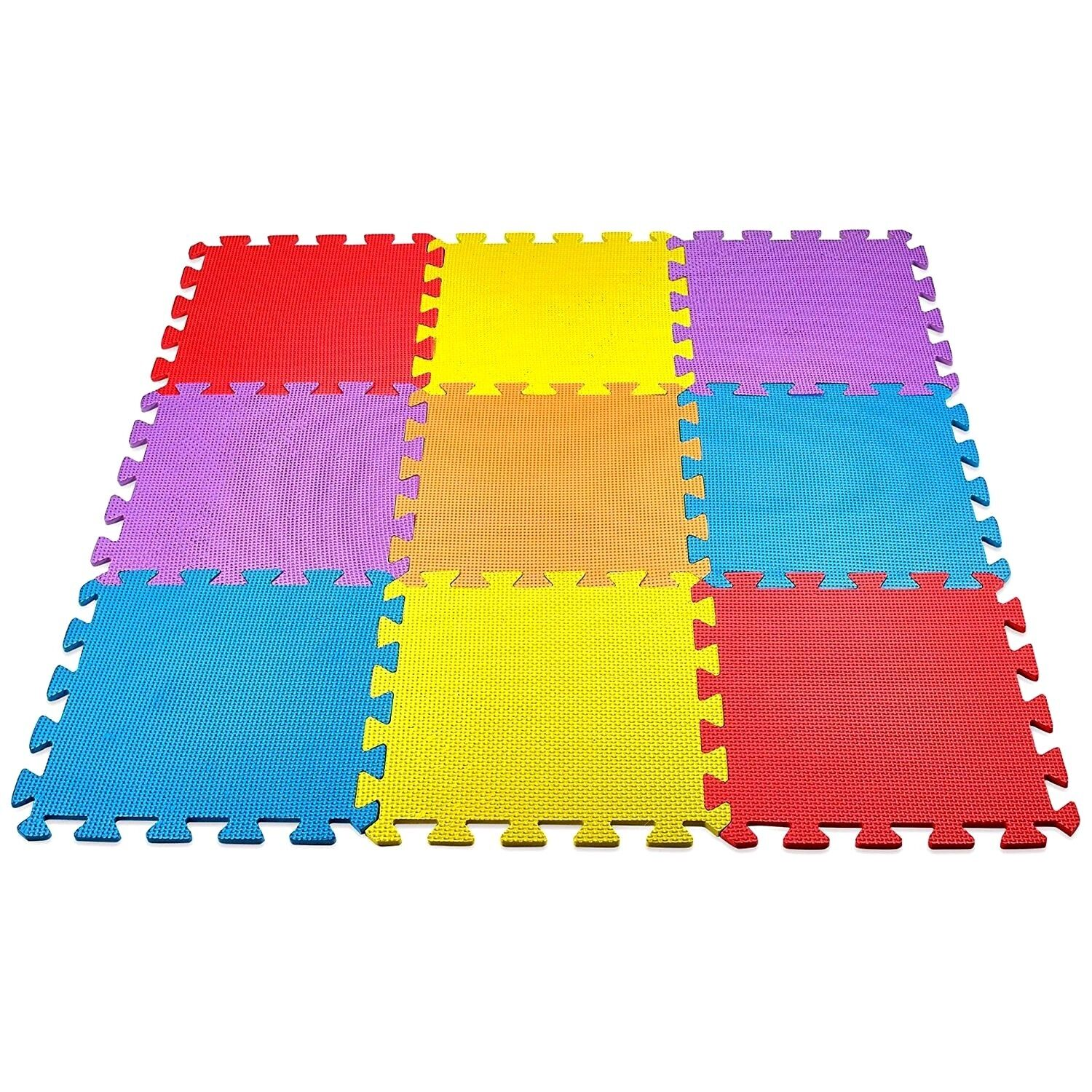 Baby Play Mat Foam Floor Puzzle 9 Tiles Toddler Activity Gym