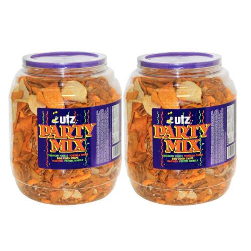 Utz Party Mix Barrels 43 oz. (2 ct.) Chips, Pretzels, Tortillas