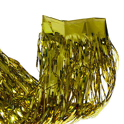 Gold Metallic Fringe Curtain Party Foil Tinsel Room Decor 3' x 8' Door Wholesale](Gold Metallic Fringe Curtain)