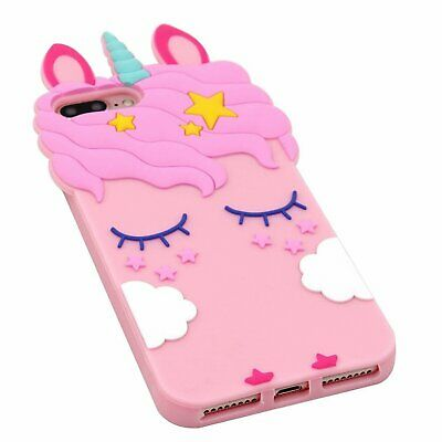 Pink Girly Unicorn Cute Phone Case Protective Silicone Gel Cover For iPhone Cases, Covers & Skins