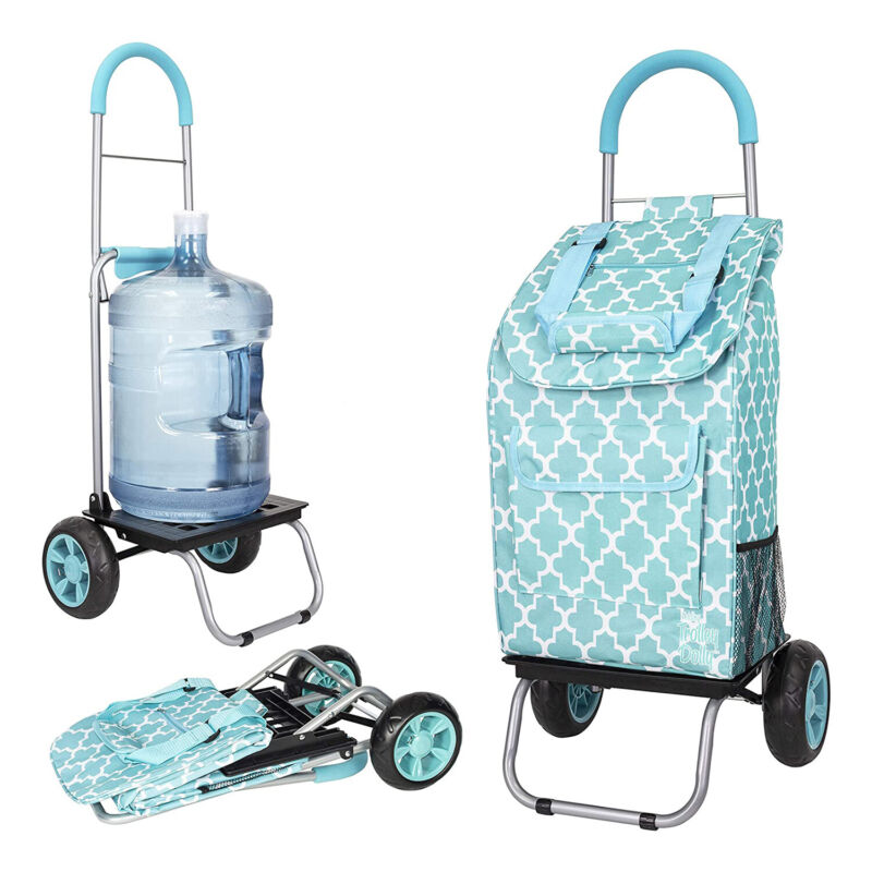 dbest products Folding Collapsible Trolley Dolly, Moroccan Tile (For Parts)
