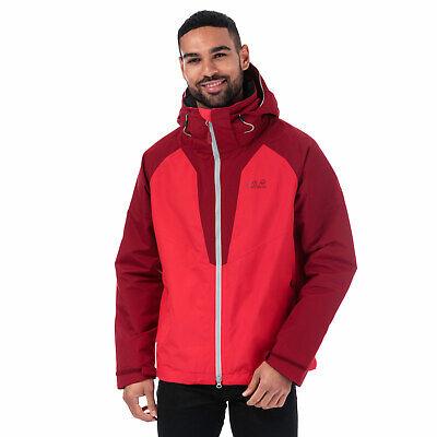Mens Jack Wolfskin Apex Summer Peak Jacket In Red- Zip Fastening- Removable