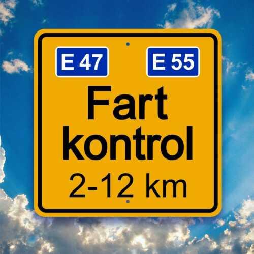 Fart Sign  -  FARTKONTROL - Danish Autobahn Plaque  - Garage / Pub  / Travel Art