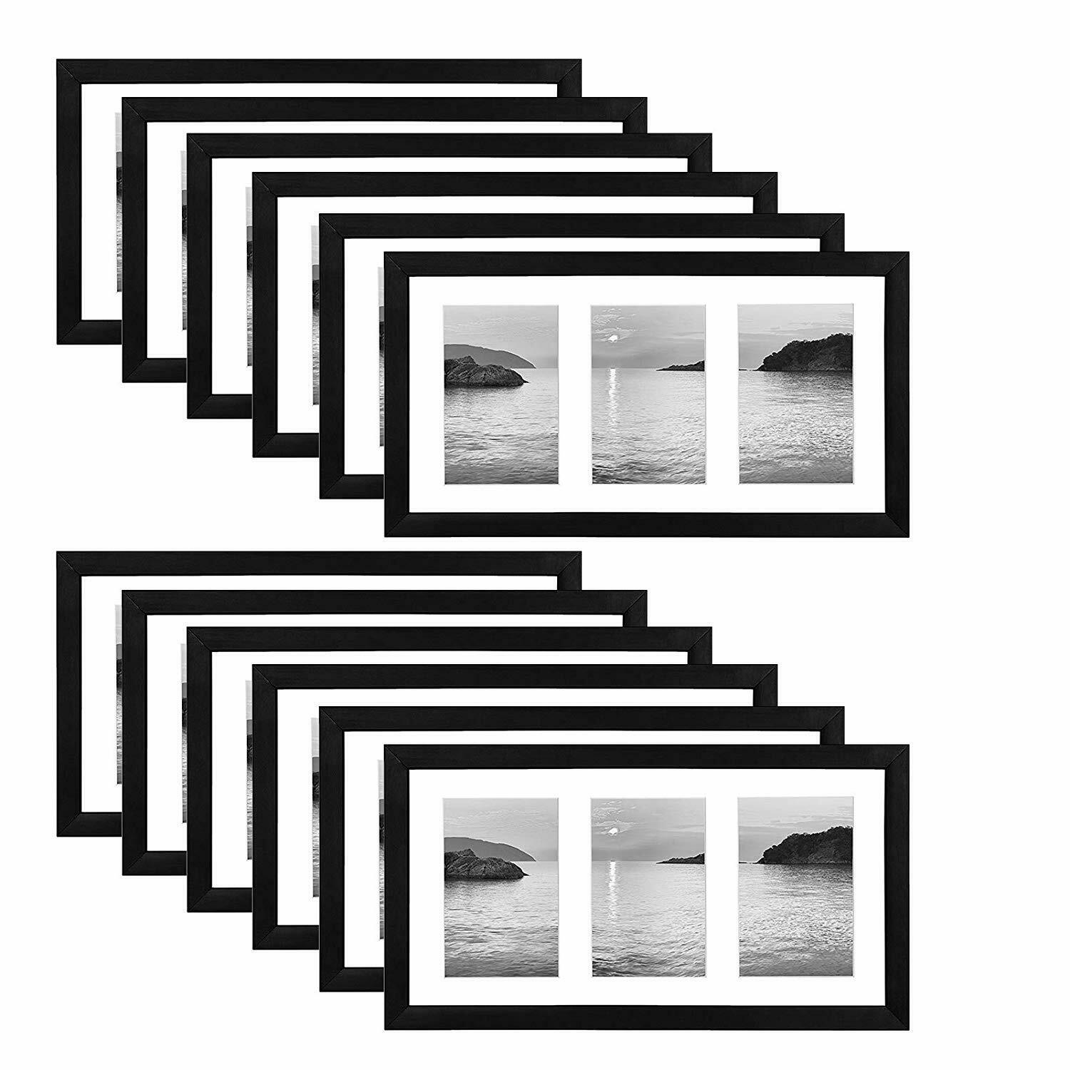 Americanflat 12 Pack - 8x14 Collage Picture Frames - Display