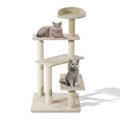 "PawHut 39"" Cat Tree Scratcher Climbing Post Kitten Pets Scratching Furniture"
