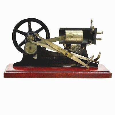Central Scientific Steam Engine Model Demonstrator C1900 Cast Iron Brass Wood