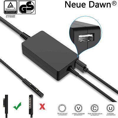 44W Für Microsoft Surface Pro 3,4,5,Book Tablet PC mit USB Ladegerät Netzteil ()