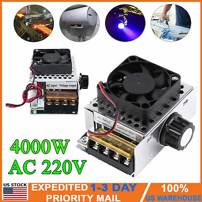 4000w 220v Ac Scr Motor Speed Controller Voltage Regulator Dimmer Module W Fan