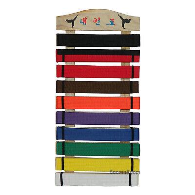 New Taekwondo Belt Display Rack Karate Martial Arts Wall Mount Belt Holder-Wood