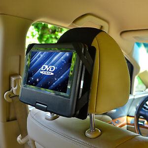 NEW Car Headrest Mount Holder for 7 Inch Swivel & Flip Style Portable DVD Player