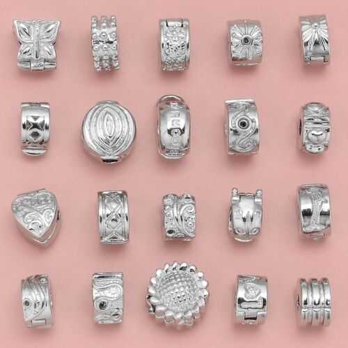 silver clips beads stopper charm fit european