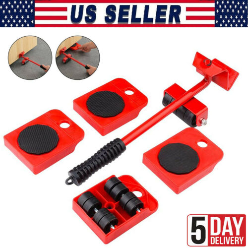 Heavy Furniture Roller Set Shifter Lifter Wheels Mover Easy Moving Slider Tool