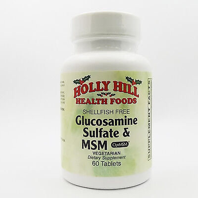 Holly Hill Health Foods, Glucosamine Sulfate and MSM (Shellfish Free),60Veg Tabs
