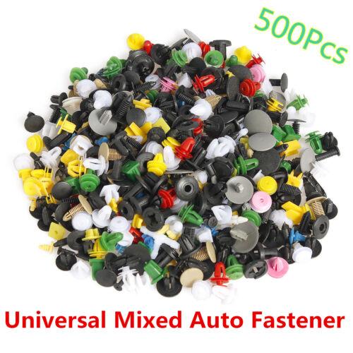Car Parts - 500 Mixed Car Door Bumper Fenders Fastener Retainer Rivet Push Pin Clip Panel US