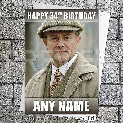 Grantham personalised birthday card. 5x7 inches. Mum, Dad. (Downton Abbey Grantham)