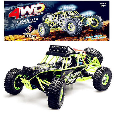 WLtoys 12428 1/12 2.4G Rock Crawler High Speed 4WD Climbing Off Road RC Car USB