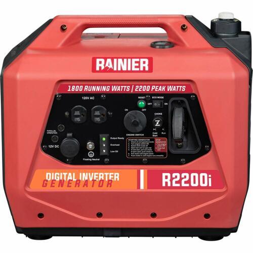 Rainier 2200-W Super Quiet Portable Gas Powered Inverter Generator Lightweight