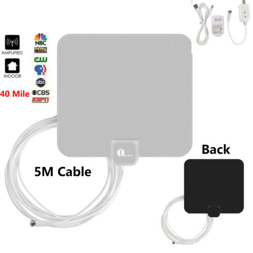 1byone 40-Miles TV Antenna Indoor HD TV Digital Signal Ampli